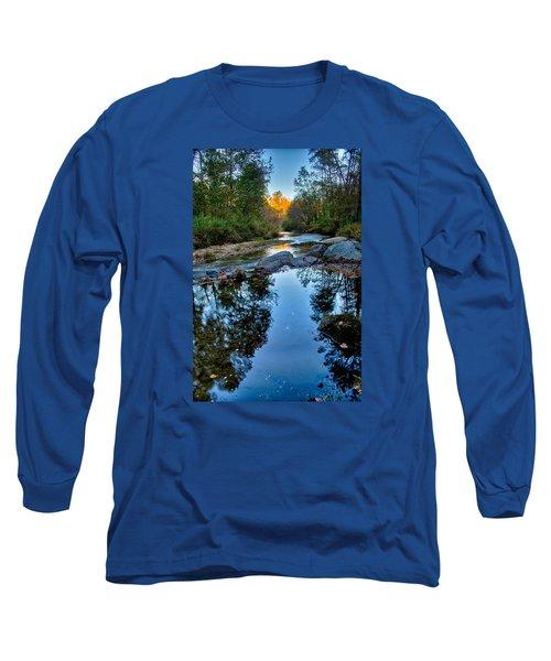 Stone Mountain North Carolina Scenery During Autumn Season Long Sleeve T-Shirt by Alex Grichenko