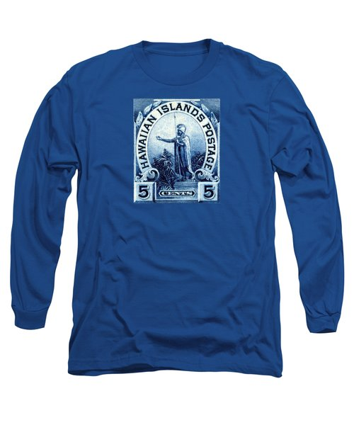 1899 Statue Of Kamehameha Stamp Long Sleeve T-Shirt
