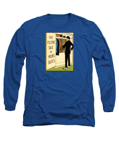Long Sleeve T-Shirt featuring the painting 1920 Mens's Suites On Sale by Historic Image
