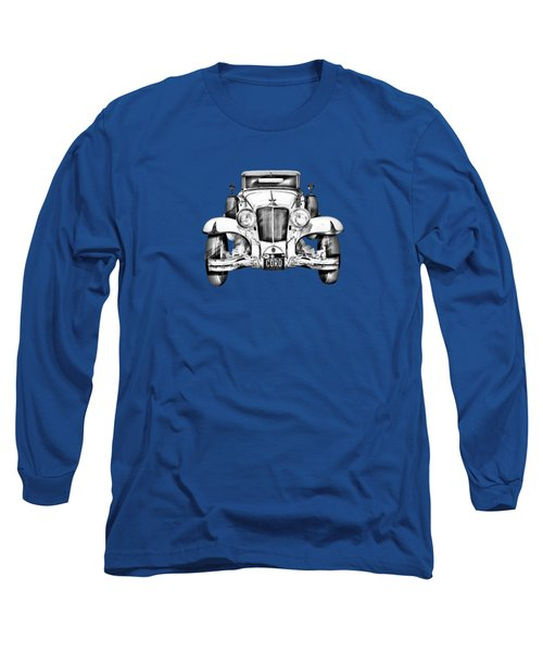 1929 Cord 6-29 Cabriolet Antique Car Illustration Long Sleeve T-Shirt