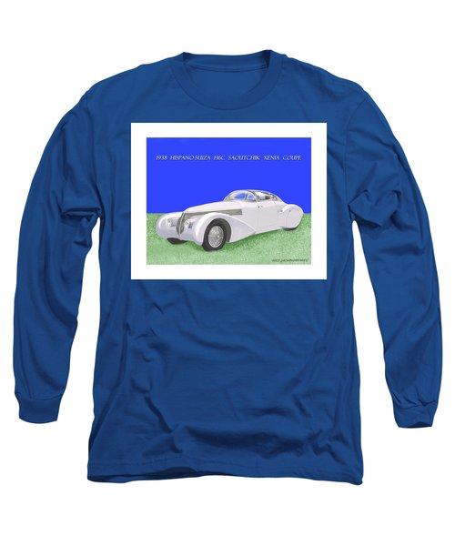 1938 Hispano Suiza H6c Saoutchik Xenia Coupe Long Sleeve T-Shirt by Jack Pumphrey