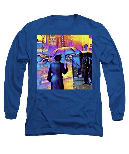 1940s Times Square Rain IIl Long Sleeve T-Shirt