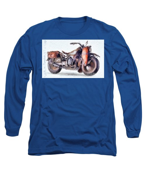 1942 Harley Davidson, Military, 750cc Long Sleeve T-Shirt