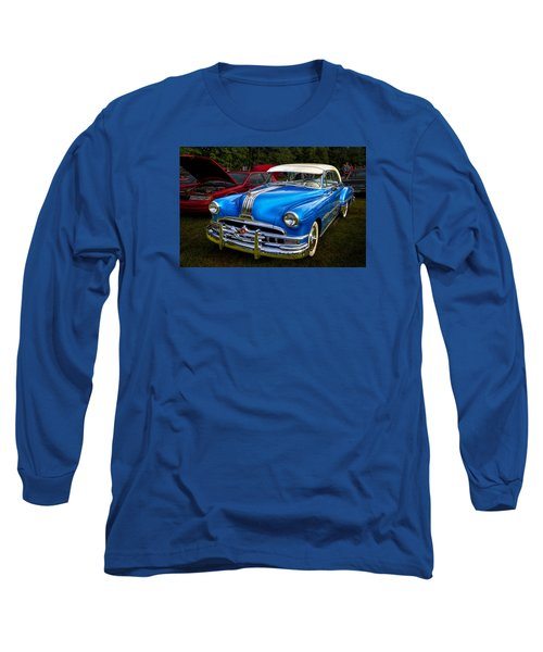 1952 Blue Pontiac Catalina Chiefton Classic Car Long Sleeve T-Shirt by Betty Denise