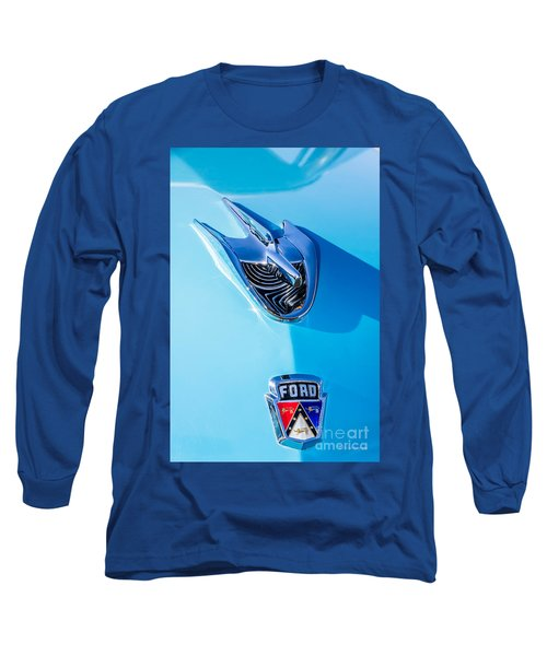 Long Sleeve T-Shirt featuring the photograph 1956 Ford Hood Ornament by Aloha Art