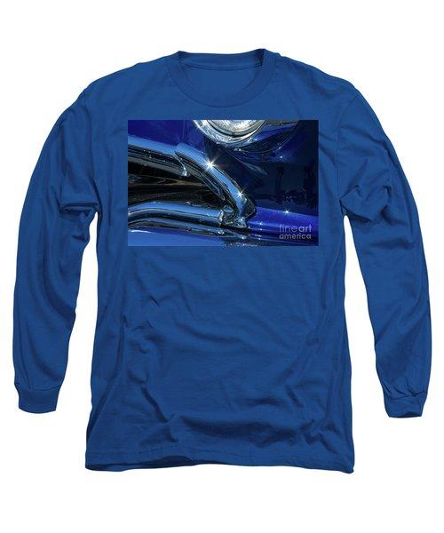 1956 Pontiac Chieftain Headlight And Grill 1 Long Sleeve T-Shirt