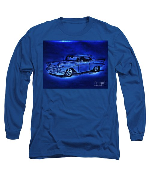 1957 Chevy Bel Air - Moonlight Cruisin  Long Sleeve T-Shirt