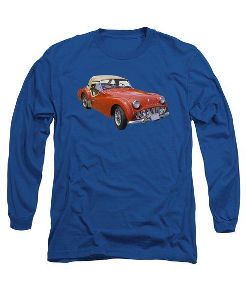 1957 Triumph Tr3 Convertible Sportscar Long Sleeve T-Shirt
