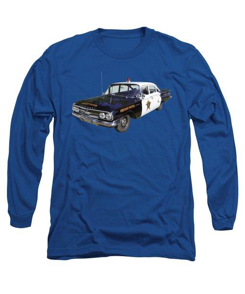 1960 Chevrolet Biscayne Police Car Long Sleeve T-Shirt