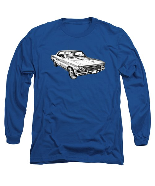 1966 Chevy Chevelle Ss 396 Illustration Long Sleeve T-Shirt