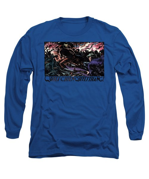 Long Sleeve T-Shirt featuring the painting 1968 North Vietnamese Propaganda by Historic Image