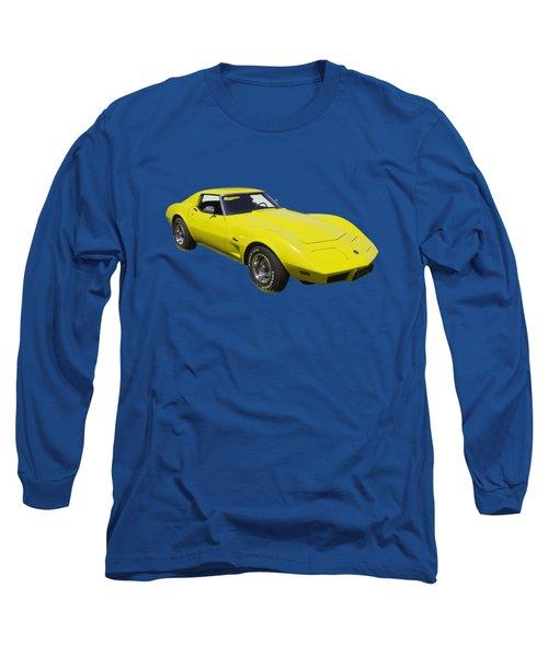 1975 Corvette Stingray Sportscar Long Sleeve T-Shirt by Keith Webber Jr
