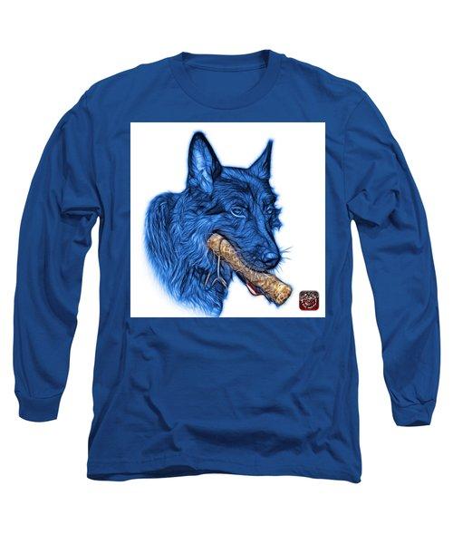 Blue German Shepherd And Toy - 0745 F Long Sleeve T-Shirt