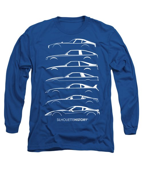 Japanese Sports Car Silhouettehistory Long Sleeve T-Shirt