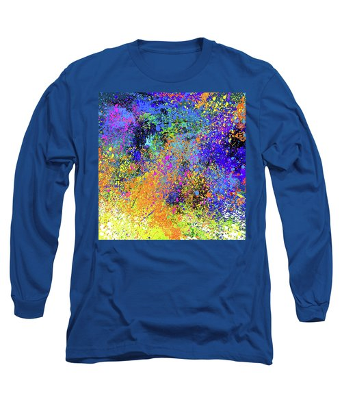 Long Sleeve T-Shirt featuring the painting Abstract Composition by Samiran Sarkar