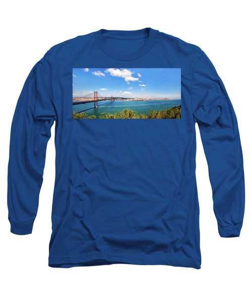 Long Sleeve T-Shirt featuring the photograph 25th April Bridge Lisbon by Marion McCristall