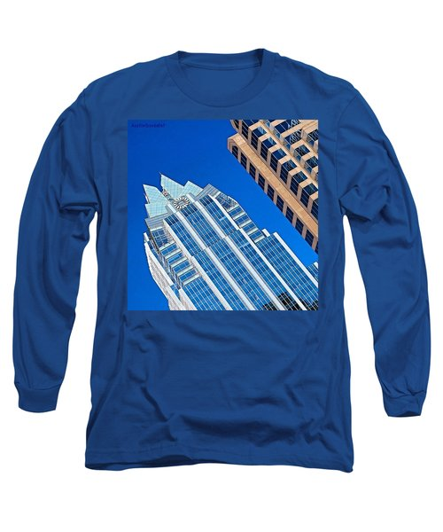 #beautiful #bluesky And The Frost Bank Long Sleeve T-Shirt