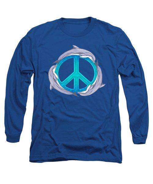 Dolphin Peace Long Sleeve T-Shirt by Chris MacDonald