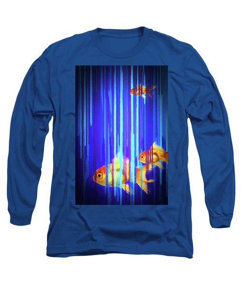 3 Fish Long Sleeve T-Shirt by James Bethanis