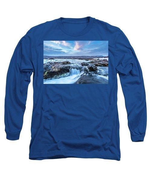 Godafoss Waterfall In Iceland Long Sleeve T-Shirt by Joe Belanger