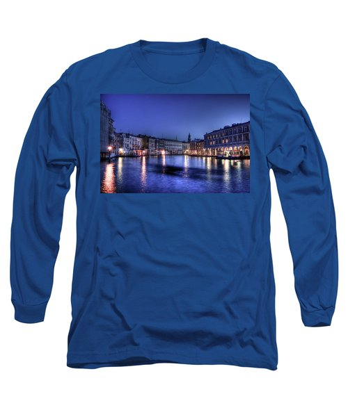 Venice By Night Long Sleeve T-Shirt by Andrea Barbieri
