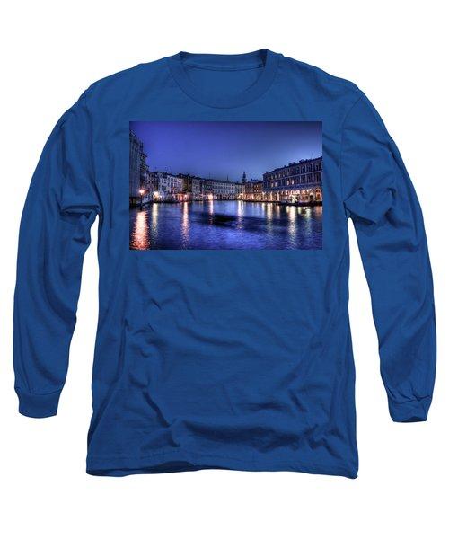 Venice By Night Long Sleeve T-Shirt