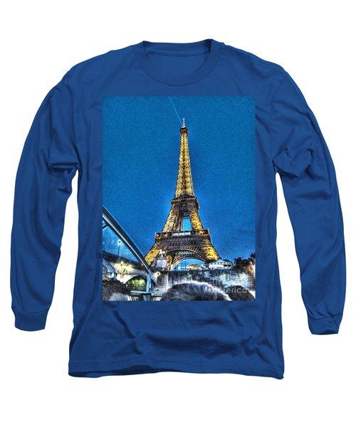 Long Sleeve T-Shirt featuring the mixed media Yury Bashkin Paris by Yury Bashkin