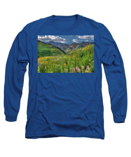 Albion Basin Wildflowers Long Sleeve T-Shirt