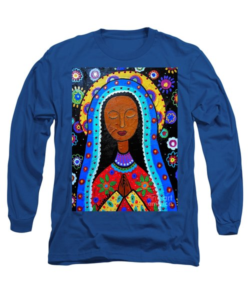 Our Lady Of Guadalupe Long Sleeve T-Shirt by Pristine Cartera Turkus