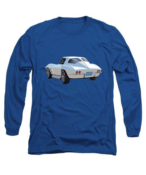 63 Vette Rear Illustration For Story Long Sleeve T-Shirt
