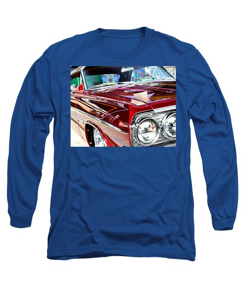 Long Sleeve T-Shirt featuring the photograph 64 Chevy Impala by Christopher Woods