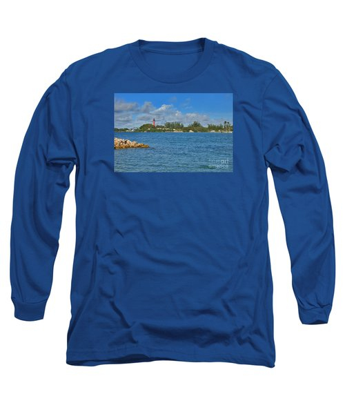 7- Jupiter Lighthouse Long Sleeve T-Shirt by Joseph Keane