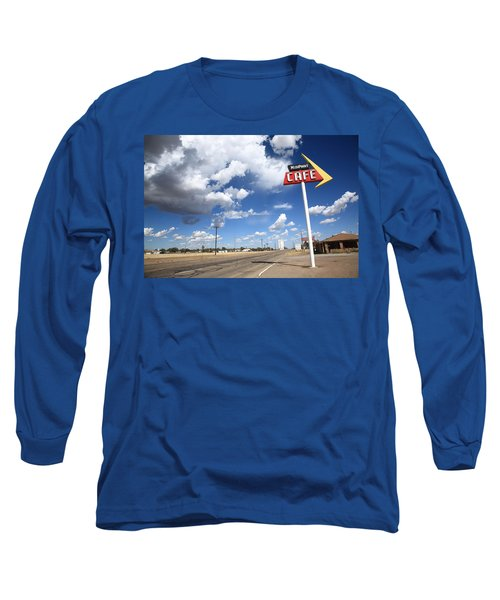 Route 66 Cafe Long Sleeve T-Shirt by Frank Romeo