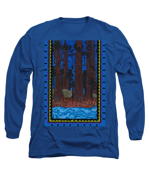 Long Sleeve T-Shirt featuring the painting A Forest Whispers by Chholing Taha