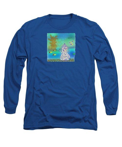 A Fishy Tea Pot Long Sleeve T-Shirt