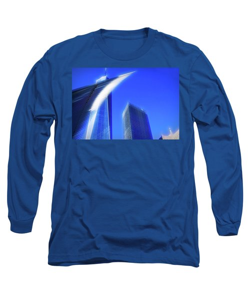 A Glimpse Of The Oculus - New York's Financial District Long Sleeve T-Shirt