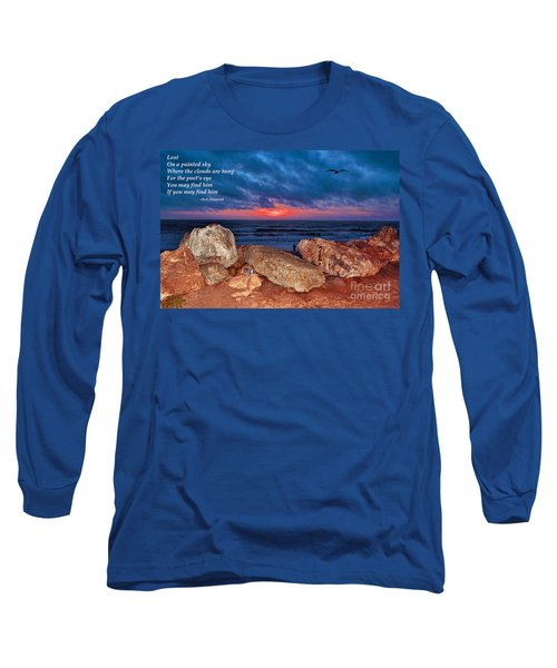 A Painted Sky For The Poet's Eye Long Sleeve T-Shirt by Jim Fitzpatrick