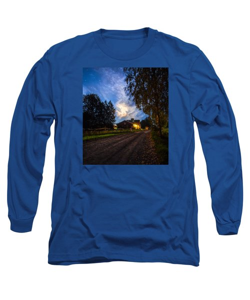 Long Sleeve T-Shirt featuring the painting A Peaceful Evening by Rose-Maries Pictures
