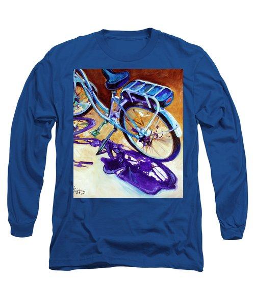 A Pedego Cruiser Bike Long Sleeve T-Shirt by Marcia Baldwin