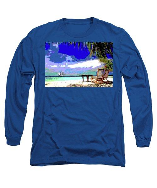 A Sunny Day At The Beach Long Sleeve T-Shirt