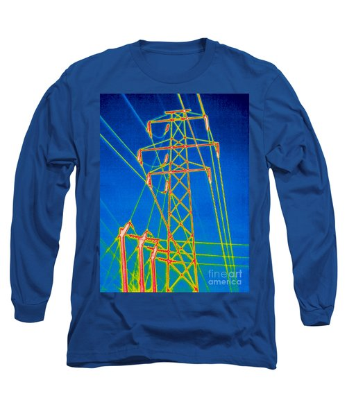 A Thermogram Of High Voltage Power Lines Long Sleeve T-Shirt