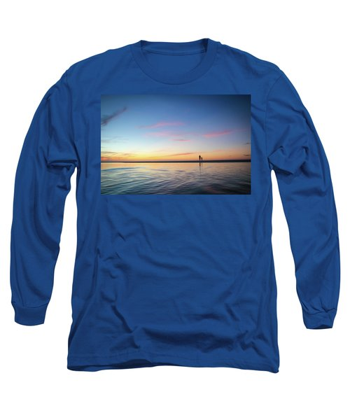 A Twilight Beach Walk Long Sleeve T-Shirt