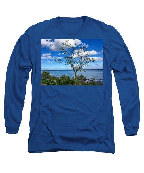 A Walk Along Lake Michigan Long Sleeve T-Shirt
