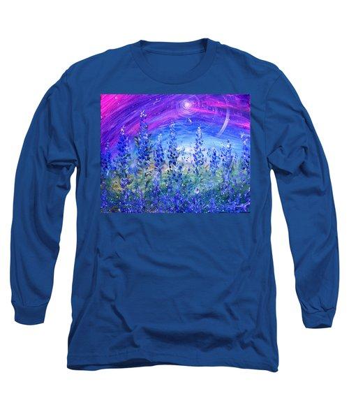 Abstract Bluebonnets Long Sleeve T-Shirt