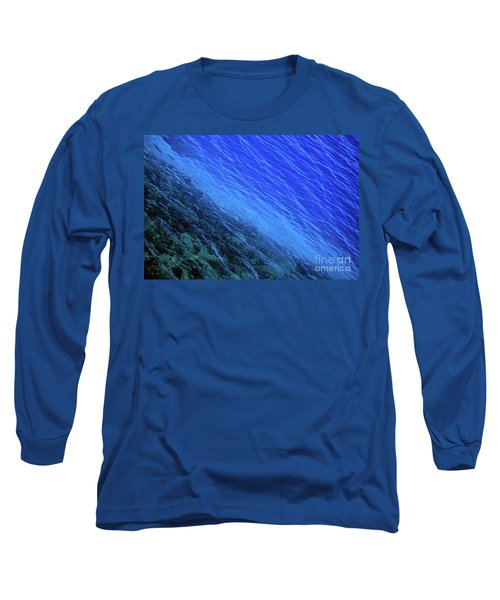 Abstract Crater Lake Blue Water Long Sleeve T-Shirt