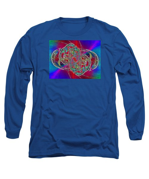 Long Sleeve T-Shirt featuring the digital art Abstract Cubed 367 by Tim Allen