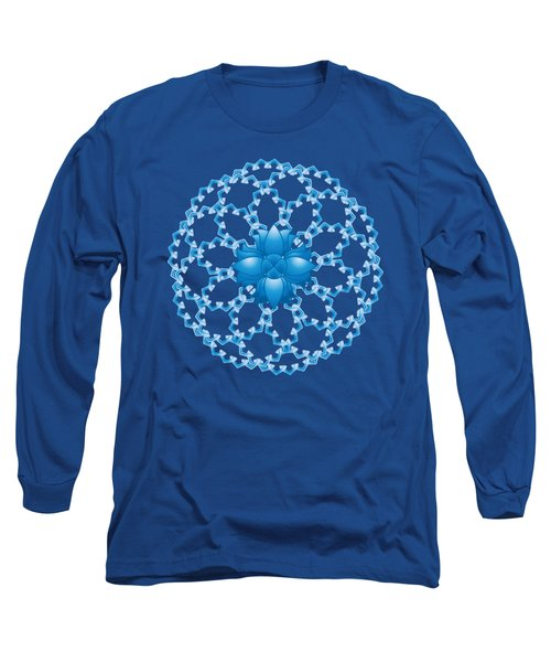 Abstract Lotus Flower Symbol Long Sleeve T-Shirt