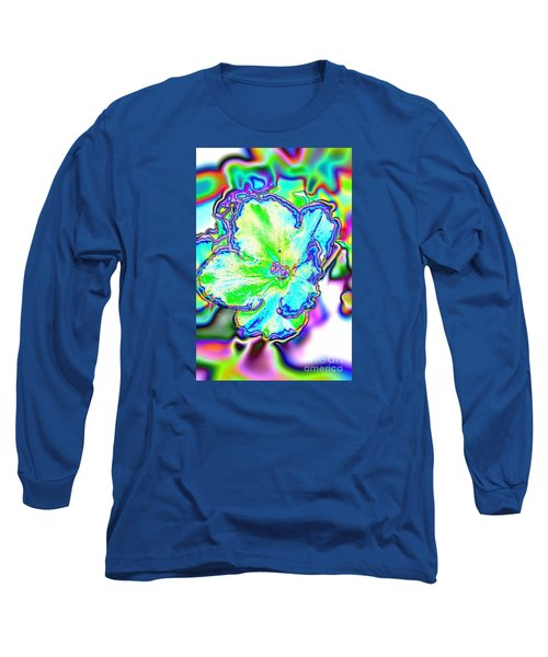 Abstract Of Violet Long Sleeve T-Shirt by Marilyn Carlyle Greiner