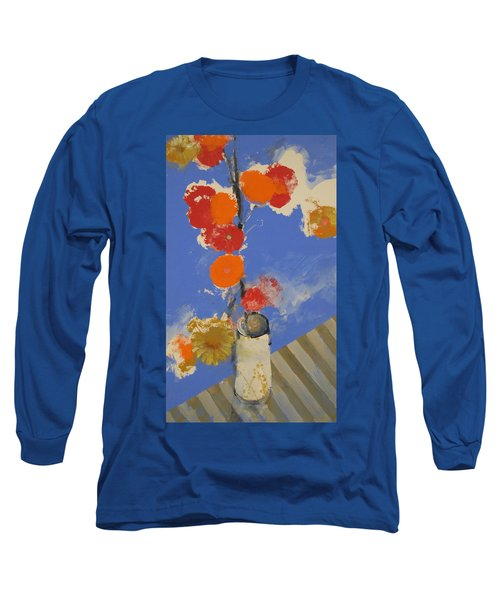 Abstracted Flowers In Ceramic Vase  Long Sleeve T-Shirt