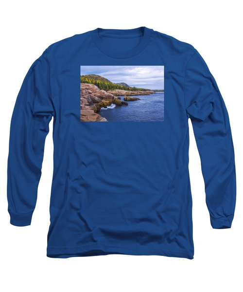Long Sleeve T-Shirt featuring the photograph Acadia's Coast by Chad Dutson